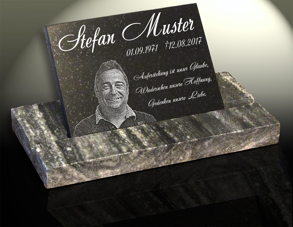 NEU Granit Gedenkplatte Grabstein ca.30x20cm mit Wunsch-Gravur /& Motiv-Auswahl*